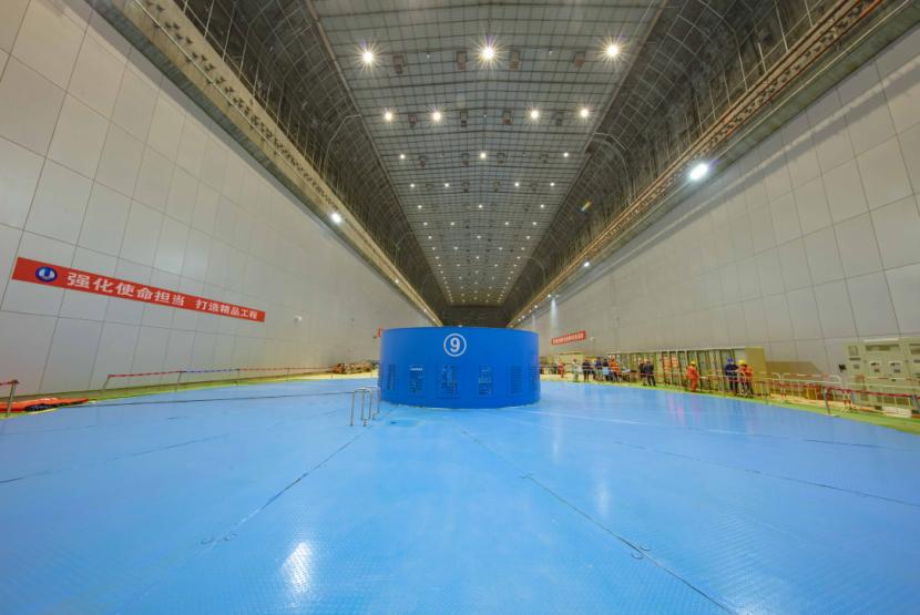乌东德水电站9号机组投产发电