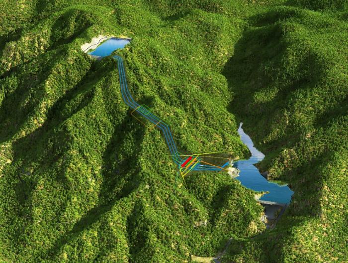 长龙山抽水蓄能电站1#输水系统开始充水